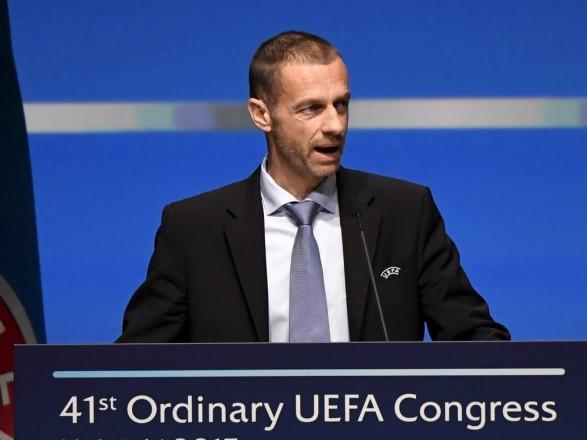 Президент УЄФА назвав Київ великою європейською футбольною сім'єю