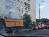 В Киеве в грузовике загорелись дрова