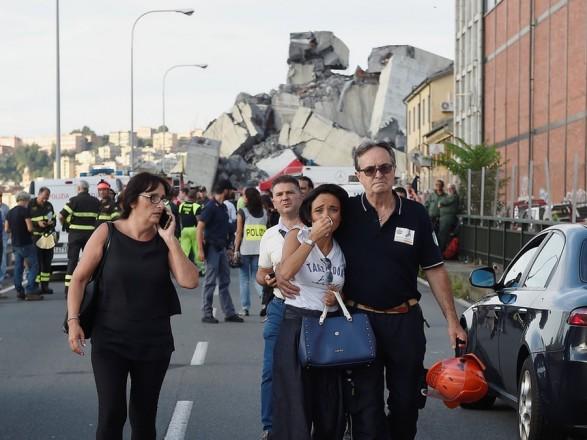 Матч Італія - Україна буде призупинений в пам'ять жертв трагедії в Генуї