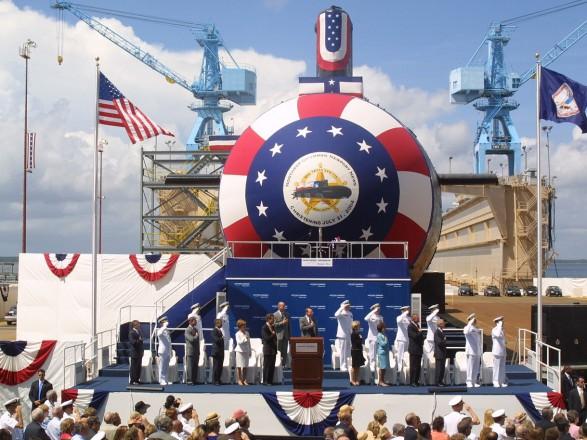 Картинки по запросу В США спустили на воду две новые ударные атомные подлодки