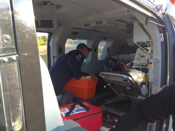 Із Умані вертольотом евакуювали хворого хасида