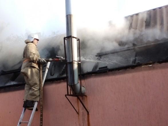 У Миколаївській області горіла лазня