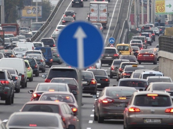 Центр Киева сковали пробки