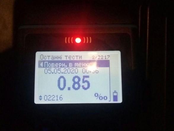 Не повезло: в столице остановили пьяного водителя в 50 м от его дома
