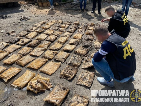 В Луганской области обнаружили схрон с 210 кг взрывчатки