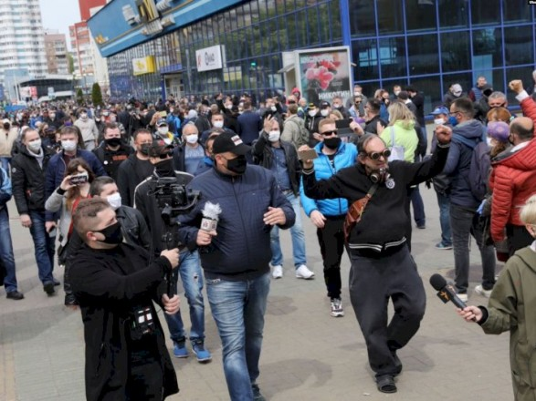В Беларуси прошел протест против выдвижения Лукашенко на шестой президентский срок