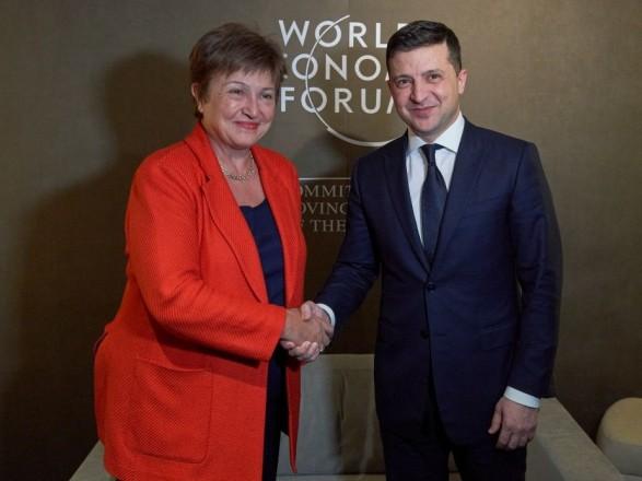 Глава МВФ - Зеленскому: первый транш программы stand-by вскоре будет утвержден