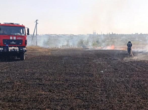 В Херсонской области ликвидировали пожар на пшеничном поле