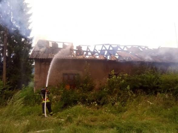 На Закарпатье горело здание психоневрологического интерната