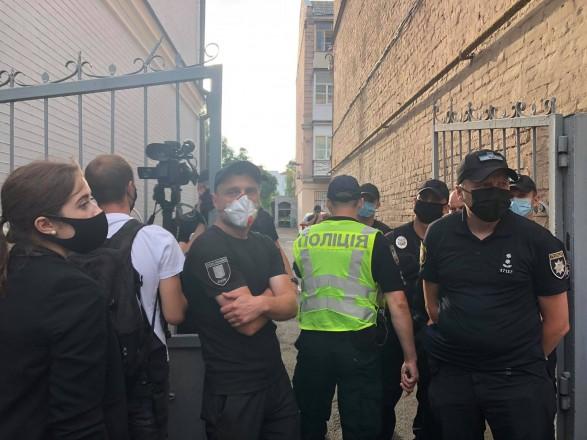 На акции под посольством Беларуси в Киеве произошли столкновения с правоохранителями: есть задержанные