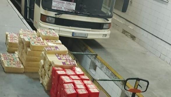 В пассажирском автобусе из Польши нашли полтонны нелегального сыра