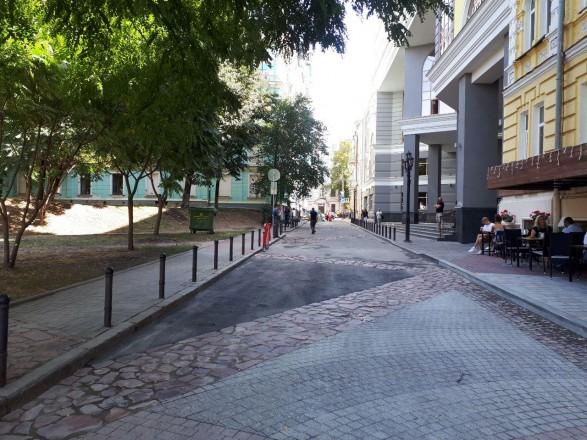 Десятинный переулок в Киеве сделали пешеходным