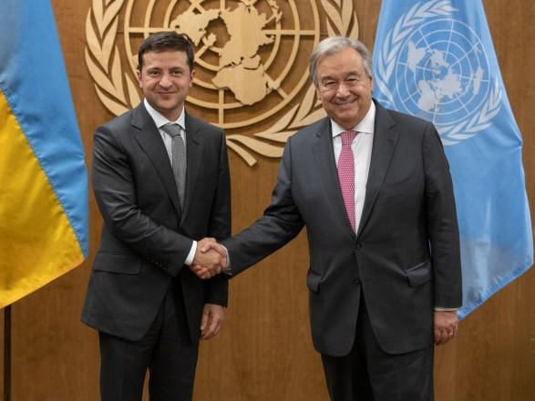 Генсек ООН в письме Зеленскому поддержал усилия по достижению прочного мира на Донбассе