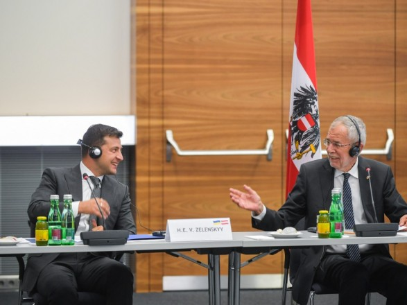 Зеленский вместе с президентом Австрии обсудил привлечение инвестиций в Украину