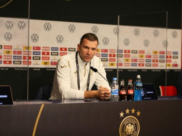 Шевченко анонсировал изменение системы игры сборной Украины в игре с Германией