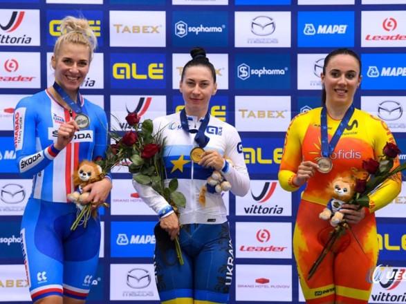 Сборная Украины завоевала первую золотую награду на чемпионате Европы по велотреку