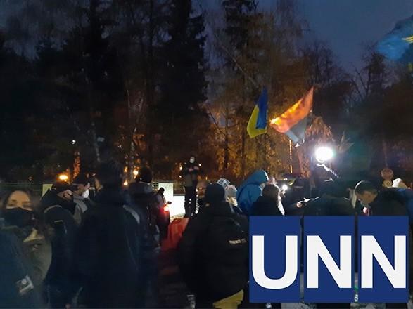 """Митинг под стенами """"Феофании"""", где лечится Зеленский, прошел без нарушений - полиция"""