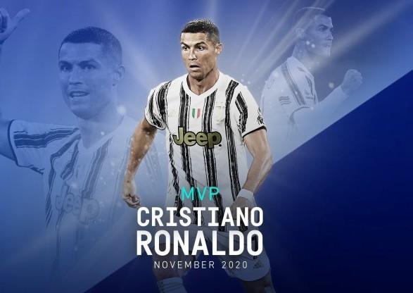 Форвард Роналду получил звание лучшего игрока месяца в Серии А