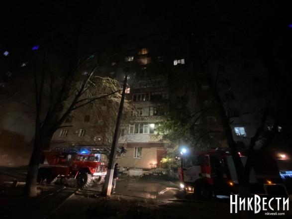 В Николаеве из-за фейерверка горели квартиры в многоэтажке