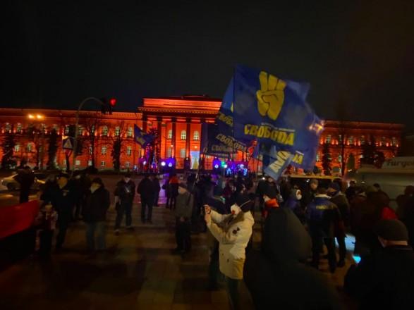 В Киеве прошло факельное шествие ко дню рождения Степана Бандеры