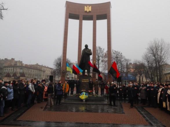 Во Львове отметили годовщину со дня рождения Степана Бандеры