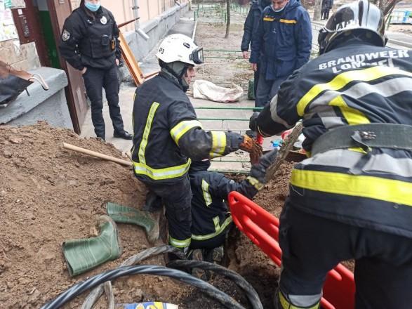 В Киеве в результате обрушения грунта погиб рабочий