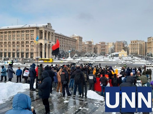 На Майдане протестуют против повышения тарифов