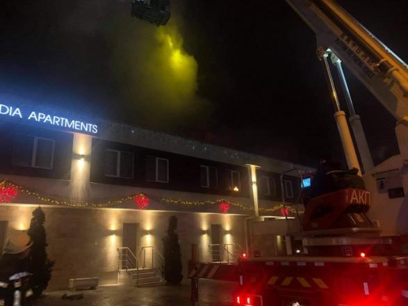 Полиция устанавливает обстоятельства пожара в одесской гостинице