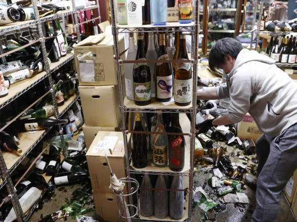 В результате землетрясения в Японии пострадало 34 человека
