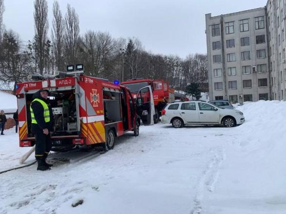 В Ровно горело здание облсовета: эвакуировали 45 работников