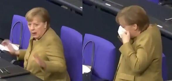 Очередной курьез Меркель: канцлер запаниковала, когда забыла надеть маску в парламенте