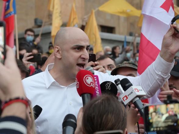 В Грузии штурмовали офис партии Саакашвили и задержали ее главу Нику Мелию