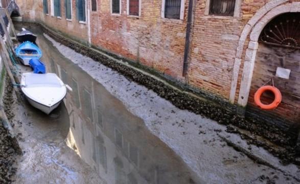 В Венеции высохли знаменитые каналы