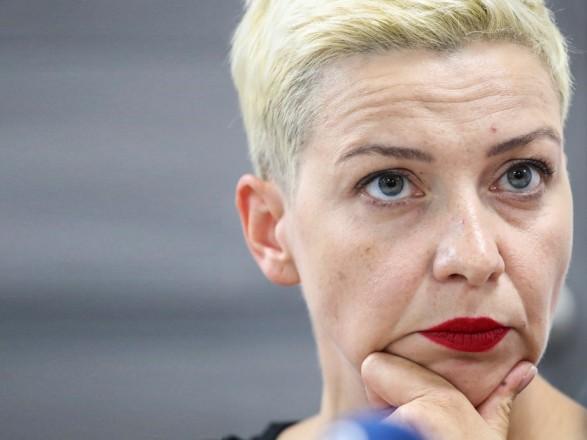 Белорусская оппозиционерка Мария Колесникова получит награду за отвагу Госдепартамента США
