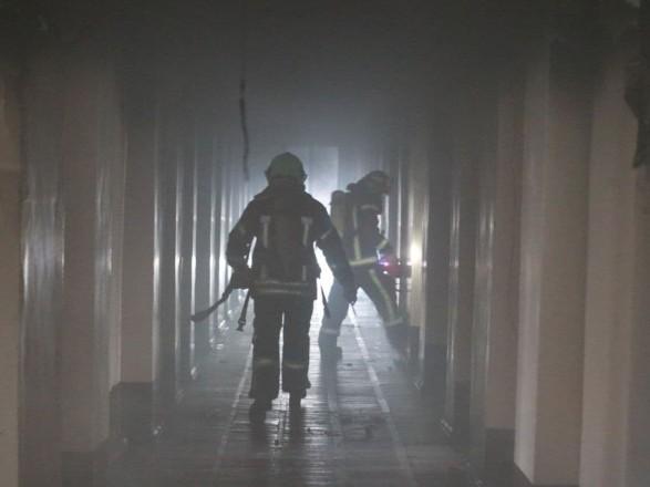 В Киеве горело общежитие КНУСА: эвакуировали шесть человек