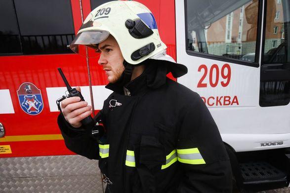 Крупный пожар вспыхнул в московском парке Горького