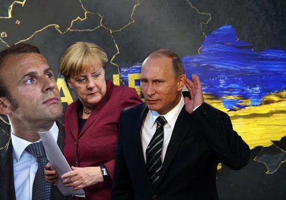 Путин пообщался с Макроном и Меркель и обвинил Украину в эскалации вооруженного конфликта на Донбасса