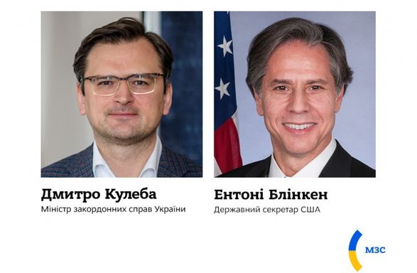 Глава МИД Дмитрий Кулеба провел переговоры с госсекретарем США Энтони Блинкеном