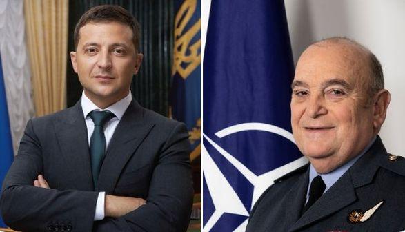 Глава Военного комитета НАТО встретился с Зеленским: говорили об обострении на Донбассе и потерях