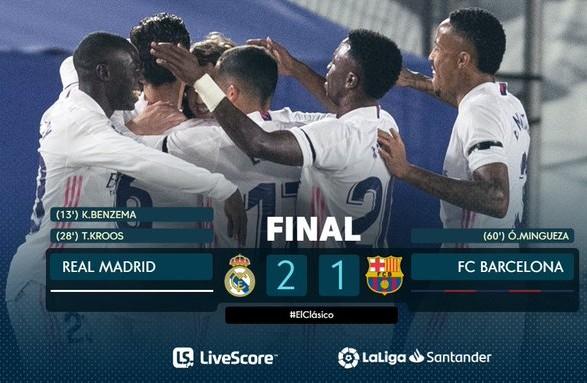 """""""Реал"""" обыграл """"Барселону"""" и возглавил испанскую Примеру"""