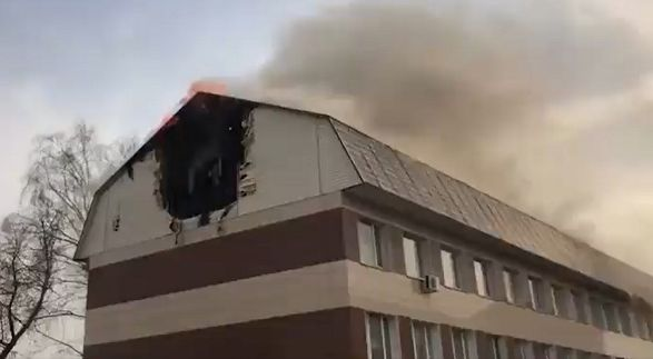 """В Москве горел бизнес-центр """"Золотое кольцо"""""""