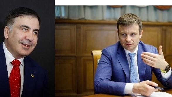 """Шулер"" против ""козявки"": Саакашвили и министр Марченко обменялись публичными оскорблениями"