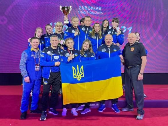 Женская сборная Украины заняла второе общекомандное место на ЧЕ по борьбе