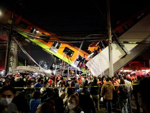 Во время аварии в метро в Мексике погибли 15 человек