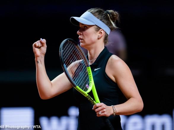 Теннис: Свитолина победила в первой встрече на соревнованиях WTA-1000 в Риме