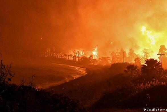 В Греции сотни спасателей тушат лесной пожар: почти 20 поселков эвакуировали