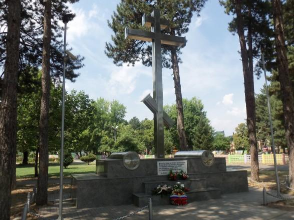 В Северной Македонии разгромили памятник российскому консулу
