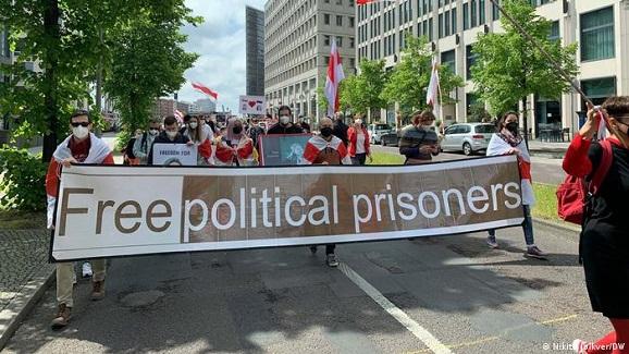 В городах Европы вышли на пикеты в поддержку задержанного в Минске Протасевича