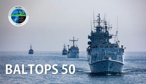 В Балтийском море стартовали крупные военно-морские учения НАТО Baltops