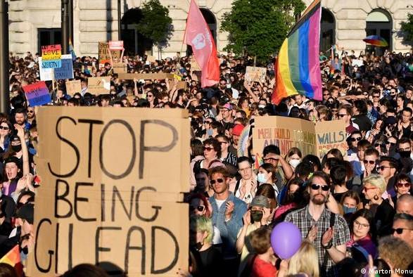 В Будапеште протестовали против закона про гей-пропаганду